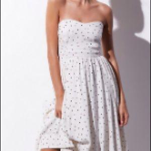 free people bella donna polka dot midi dress